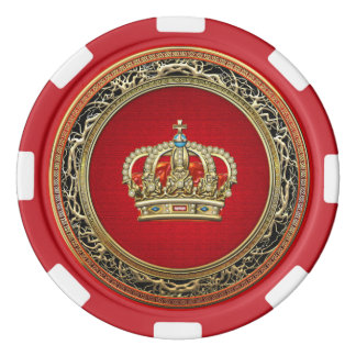 [400] Prince-Princess King-Queen Crown [Belg.Gold] Poker Chips