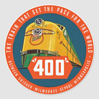 "400 ~ ""The Train That Sets The Pace"" Classic Round Sticker"