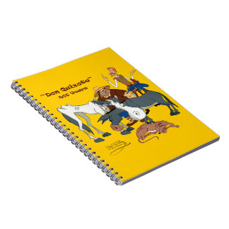 400 Years Don Quixote @QUIXOTEdotTV Spiral Notebooks