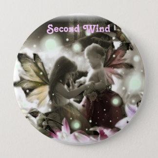 402885183, Second Wind 4 Inch Round Button