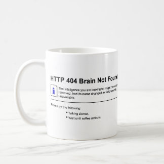 404 Brain Not Found Coffee Mug