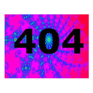 404 Clueless Psychedelic Wit Postcard