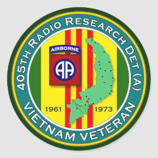 405th RRD-A - ASA Vietnam Classic Round Sticker