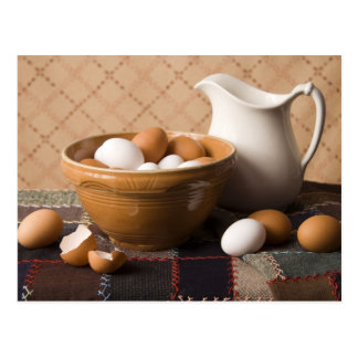 4061 Bowl of Eggs & Pitcher Still Life Postcard