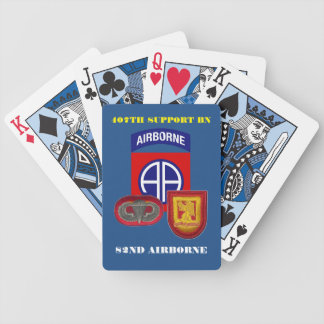 407TH SUPPORT BN 82ND AIRBORNE PLAYING CARDS