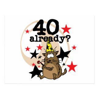 40 Already Birthday Post Card