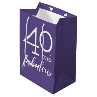 40 and Fabulous 40th Birthday Violet Gift Bag