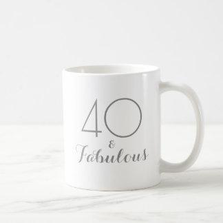 40 and Fabulous Birthday Gift Mug