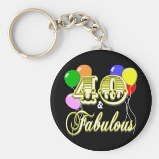40 and Fabulous Birthday Gifts and Apparel Key Chain
