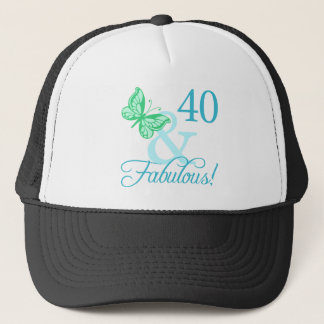 40 And Fabulous Birthday Gifts (Aqua) Trucker Hat