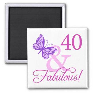 40 And Fabulous Birthday Gifts Plum Fridge Magnets