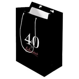 40 and Fabulous Birthday Medium Gift Bag