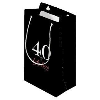 40 and Fabulous Birthday Small Gift Bag