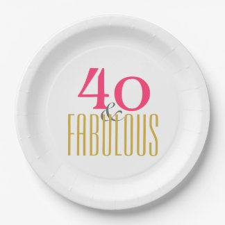 40 and Fabulous Paper Plate