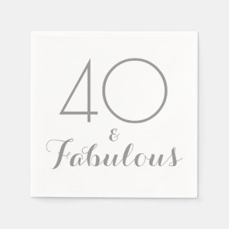 40 and Fabulous Party Napkins Paper Napkins