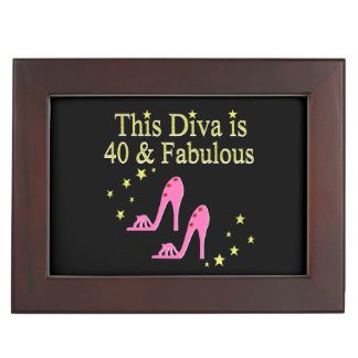40 AND FABULOUS PINK SHOE QUEEN DESIGN MEMORY BOX