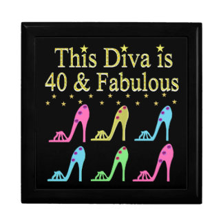 40 AND FABULOUS SHOE QUEEN DESIGN KEEPSAKE BOXES