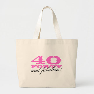 40 and fabulous tote bag for fortieth Birthday