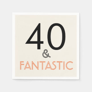 40 and Fantastic Birthday Party Paper Napkin