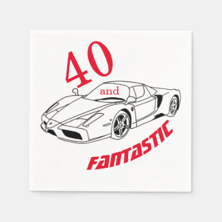 40 and Fantastic Party Paper Napkins