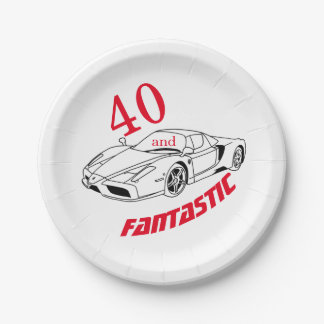 40 and Fantastic Party Paper Plates