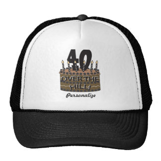 40 and Over the Hill | 40th Birthday | Diy Name Trucker Hat