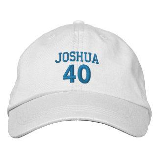 40 Birthday Custom Name BLUE Embroidery V01B Baseball Cap