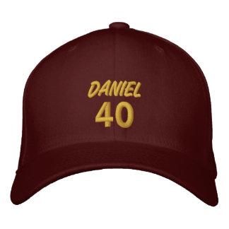 40 Birthday Custom Name GOLD Embroidery V01B Embroidered Baseball Caps