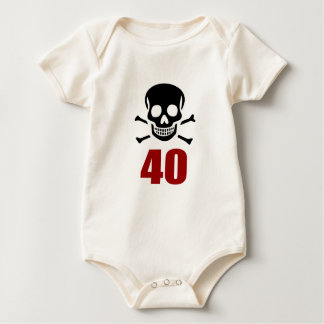 40 Birthday Designs Baby Bodysuit