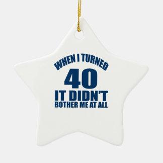 40 Birthday Designs Ceramic Ornament