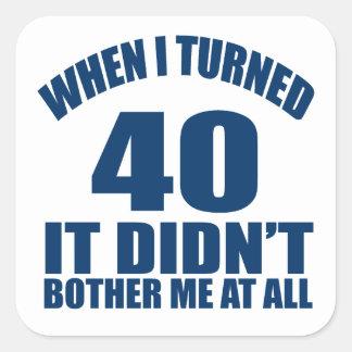 40 Birthday Designs Square Sticker