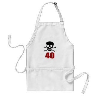 40 Birthday Designs Standard Apron