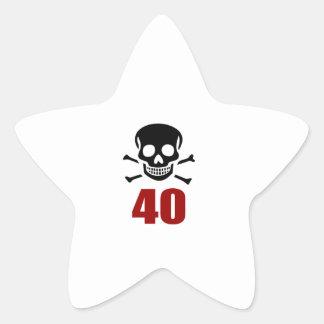 40 Birthday Designs Star Sticker