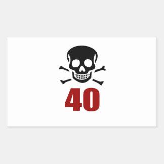 40 Birthday Designs Sticker