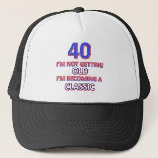 40 birthday designs trucker hat