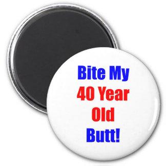 40 Bite My Butt 2 Inch Round Magnet