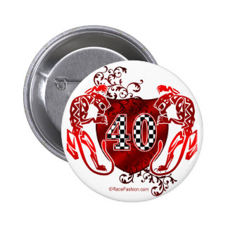 40 car number 2 inch round button