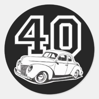40 Classic Classic Round Sticker
