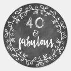 40 & Fabulous 40th Birthday Custom Stickers