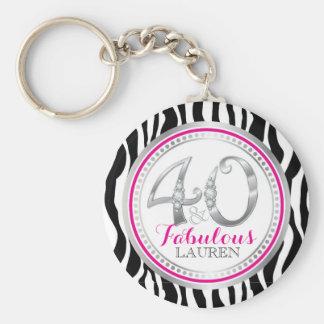 40 & Fabulous Birthday Key Chain