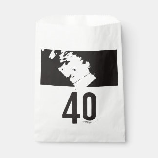 40 for a 40th Birthday Party Favour Bag