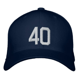 40 Forty Embroidered Hat