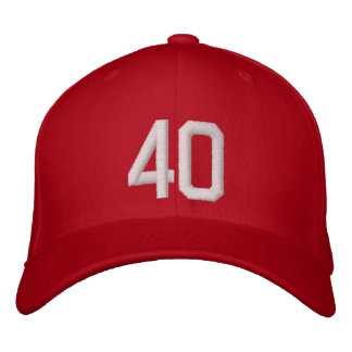 40 Forty Embroidered Hats
