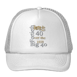 40 forty fortieth 40th party reunion celebration hat