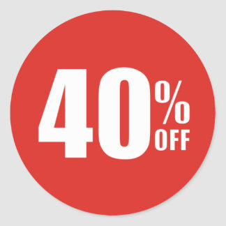 40% Forty Percent OFF Discount Sale Sticker