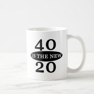 40 Is The New 20 Classic White Coffee Mug