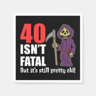 40 Isn't Fatal But Still Old Grim Reaper Cartoon Disposable Napkins