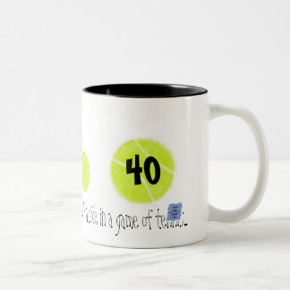 40...It's just the third point...by Lake Tennis Two-Tone Mug