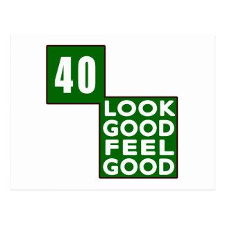 40 Look Good Feel Good Postcard
