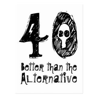 40 meilleur que l'anniversaire drôle Q40 Carte Postale